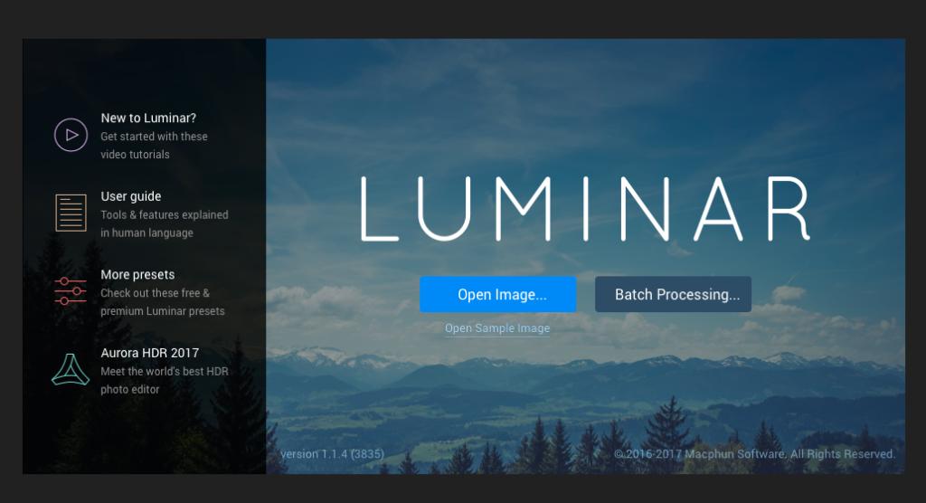 Open Luminar Photo Editor
