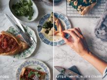 8 Matte, Blue & Color - Black.White.Vivid Food & Still Life Lightroom Presets - Kati - FilterGrade Digital Marketplace