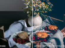 4 Matte Moody Cool & Warm - Black.White.Vivid Food & Still Life Lightroom Presets - Kati - FilterGrade Digital Marketplace