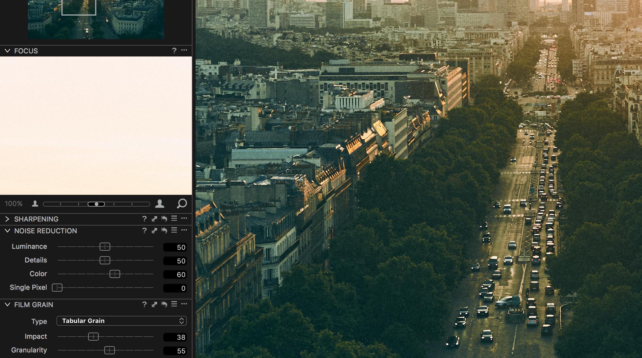 film grain tutorial capture one photo edit