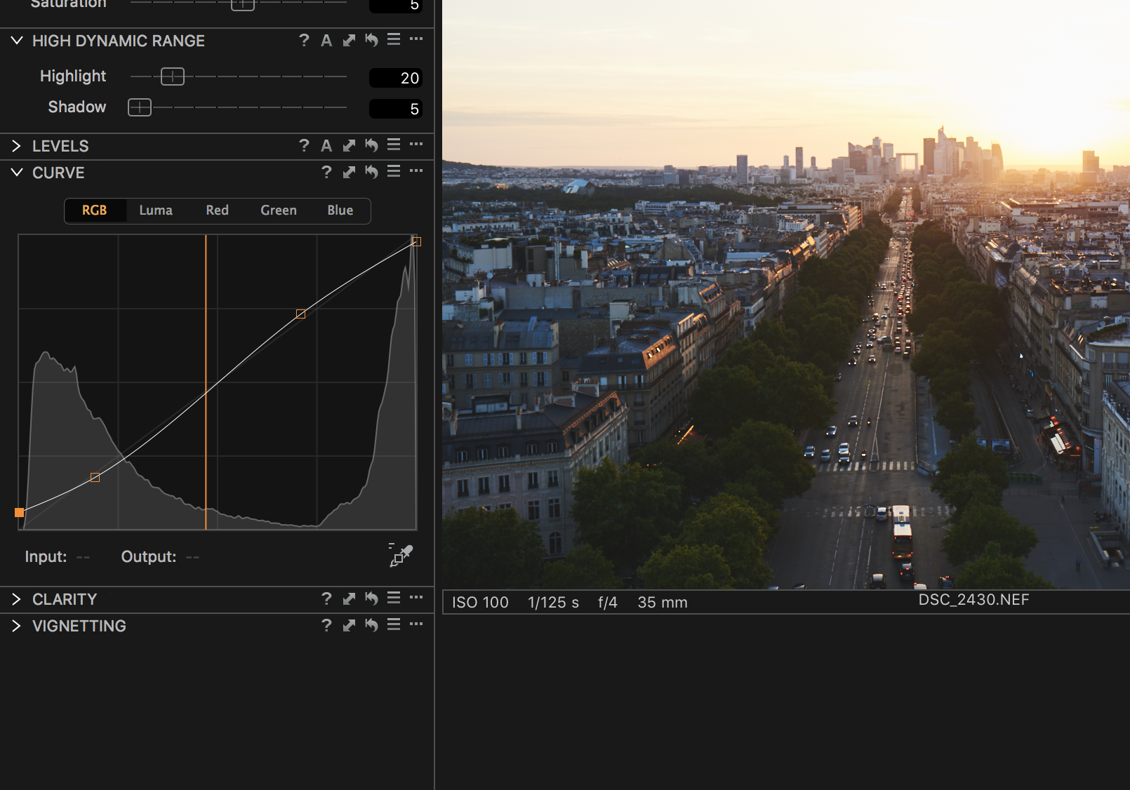 curves tool capture one pro tutorial