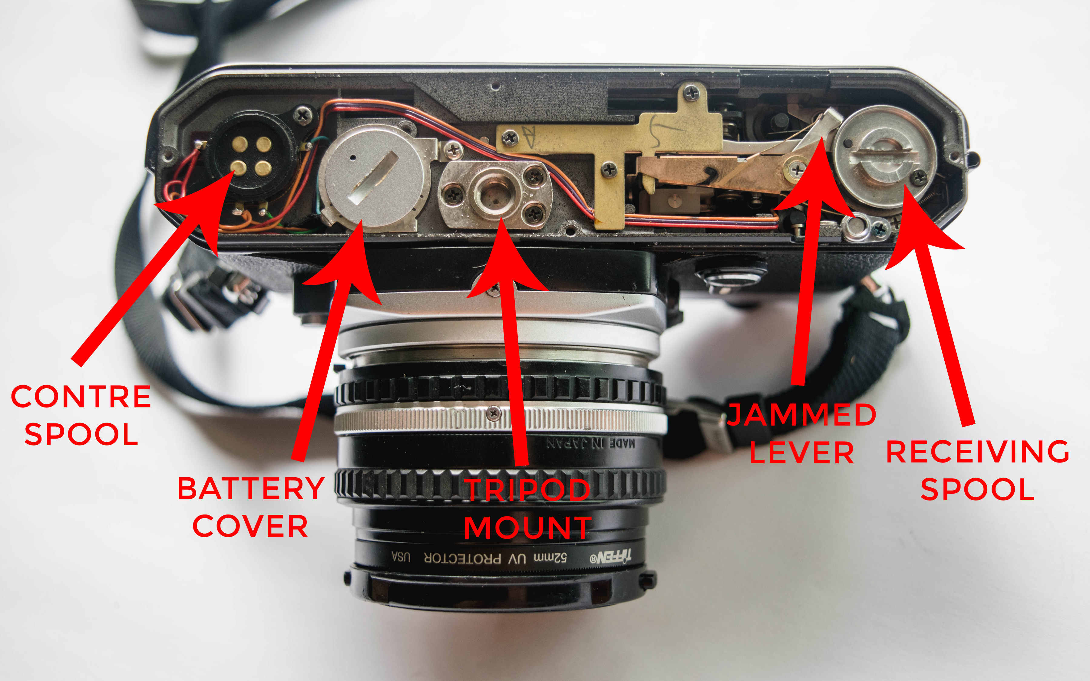 Inside Parts - How to Fix a Nikon FE Film Camera with a Jammed Shutter - FilterGrade Blog