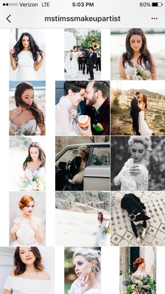 instagram mua wedding