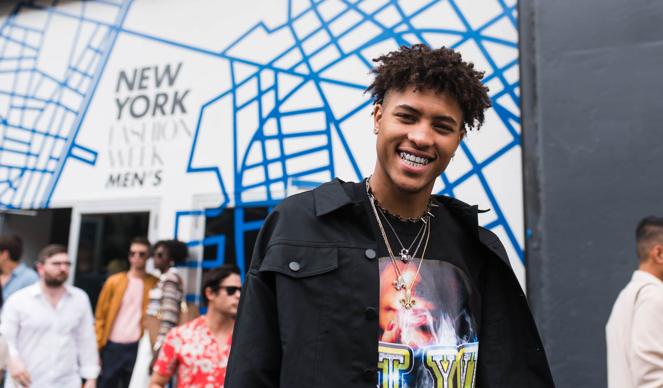 kelly oubre jr. at new york fashion week