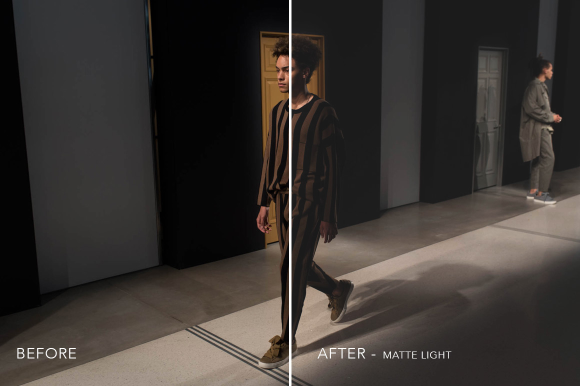 light matte photo filter effect photoshop