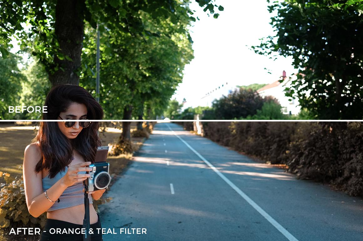 1 Ornage & Teal Filter - Michelle & Neruda Lightroom Presets - FilterGrade Digital Marketplace