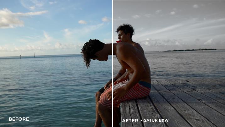 5 Satur B&W- Justin Burbage Video LUTs - FilterGrade