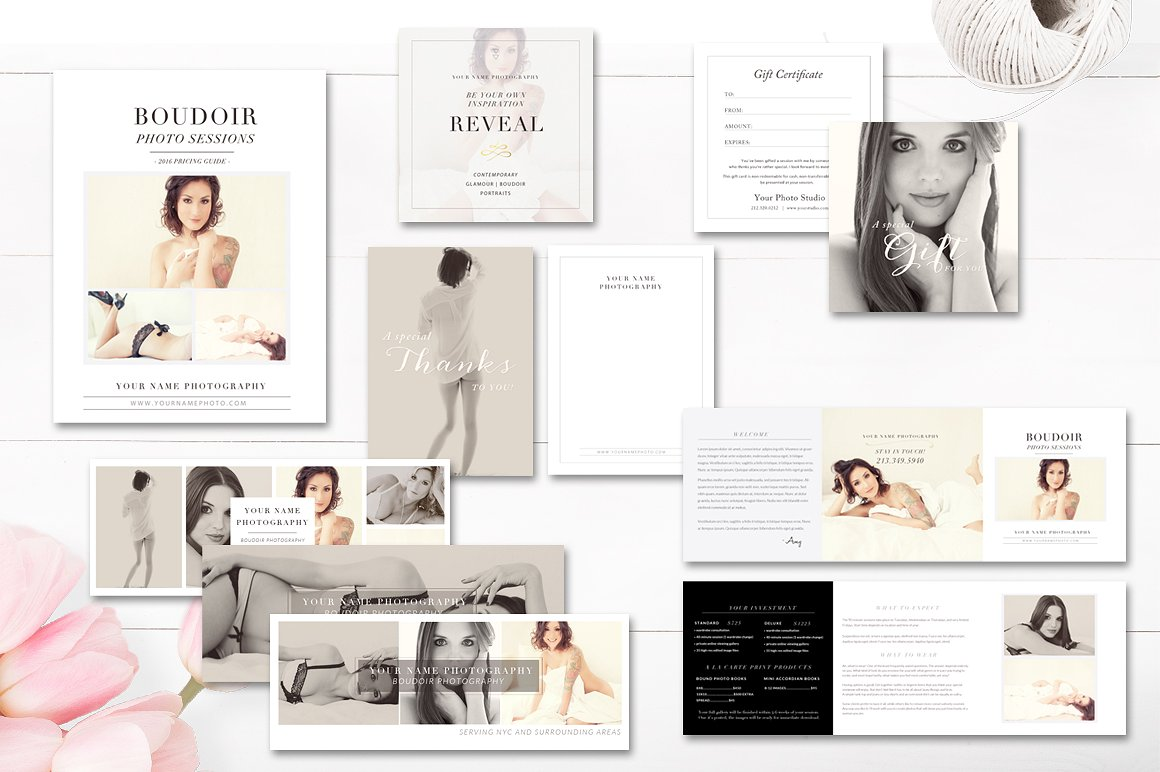 boudoir photography marketing templates proposals