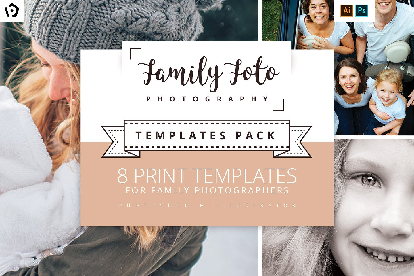 family photography templates for marketing