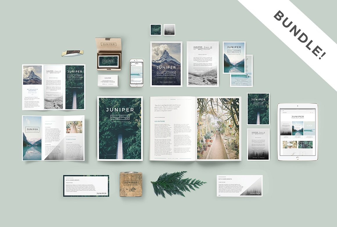 juniper branding bundle templates