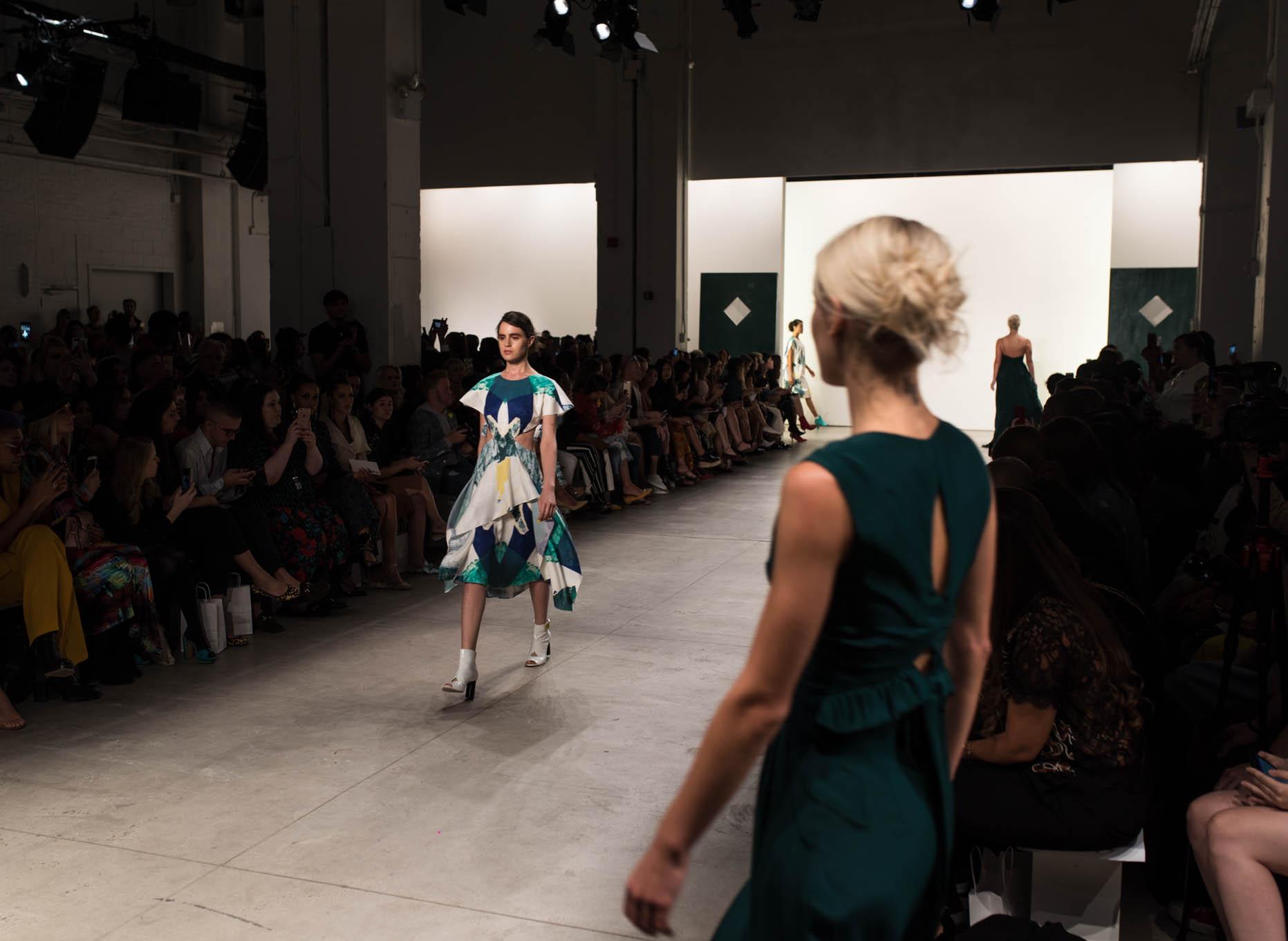 runway models at new york fashion week 2017