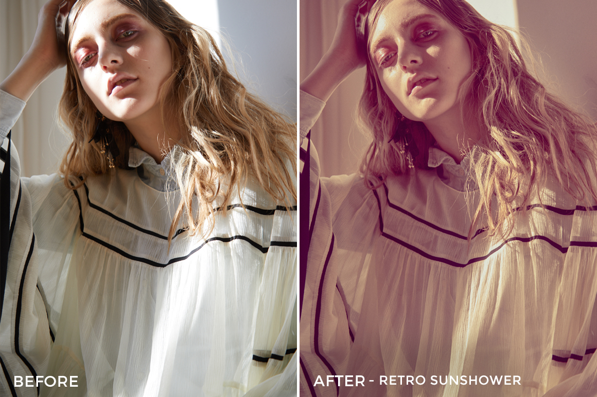 Retro Sunshower - Editorial Series- Natural Light Capture One Styles - FilterGrade