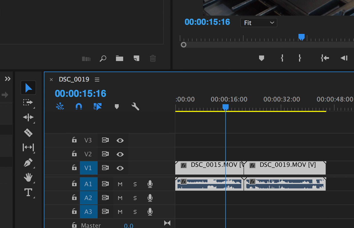 selecting clips to edit in premiere pro cc