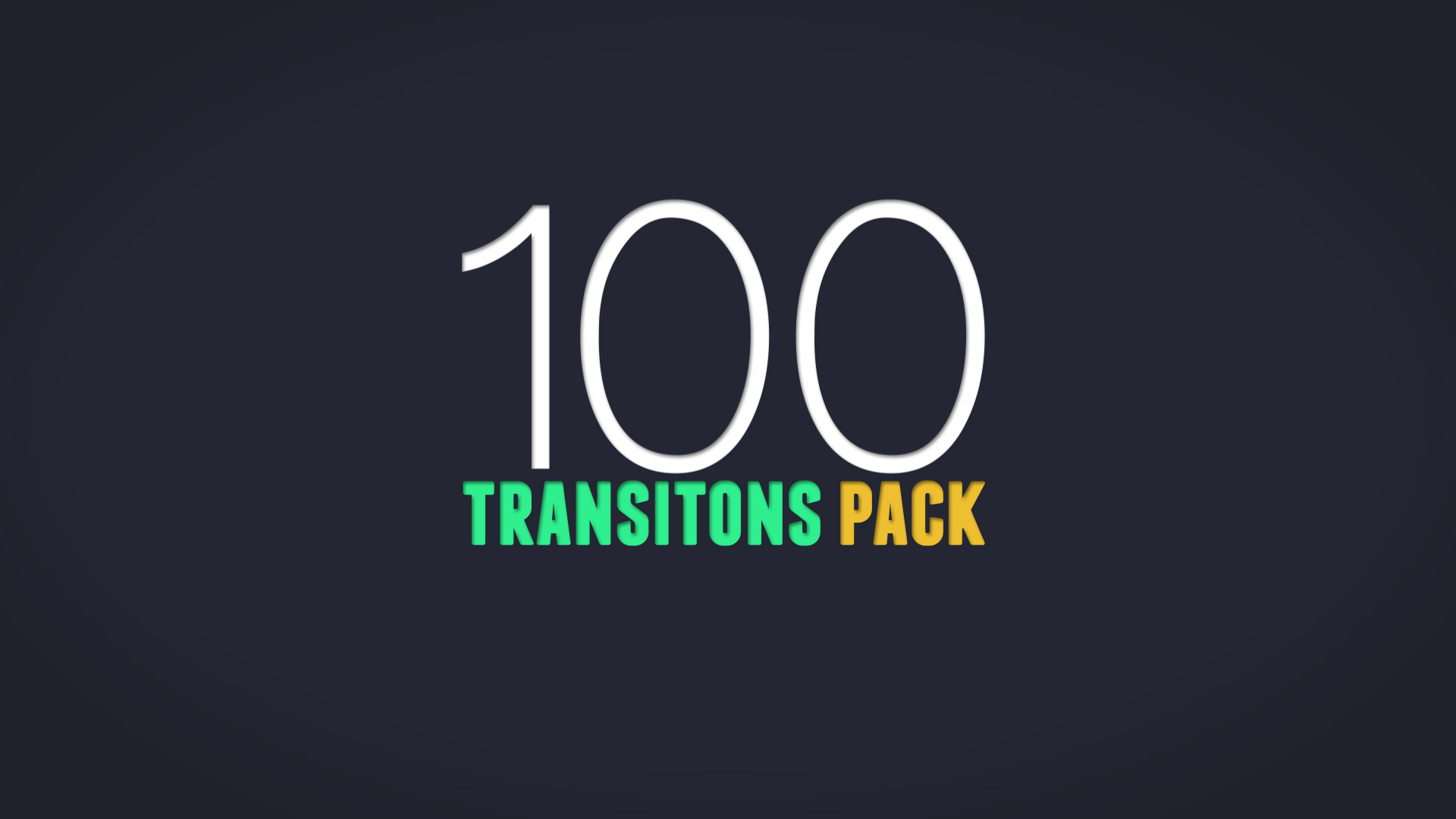 100 Animated Transitions Pack for After Effects