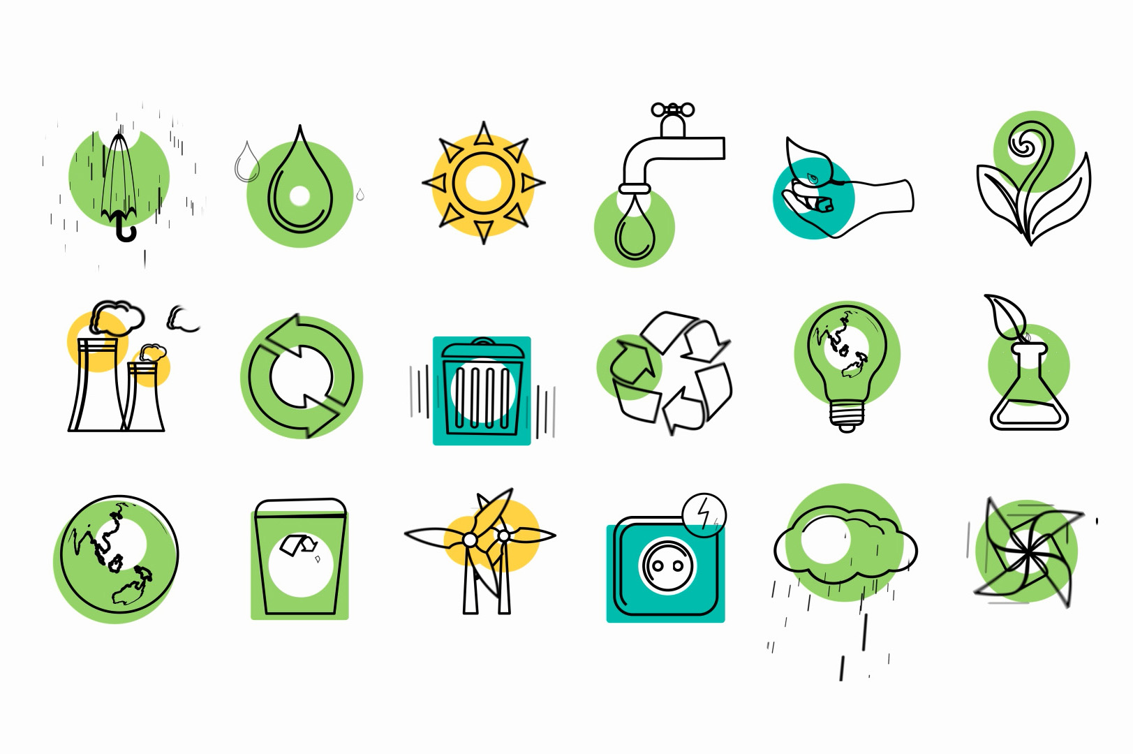 eco friendly animated icons ae template