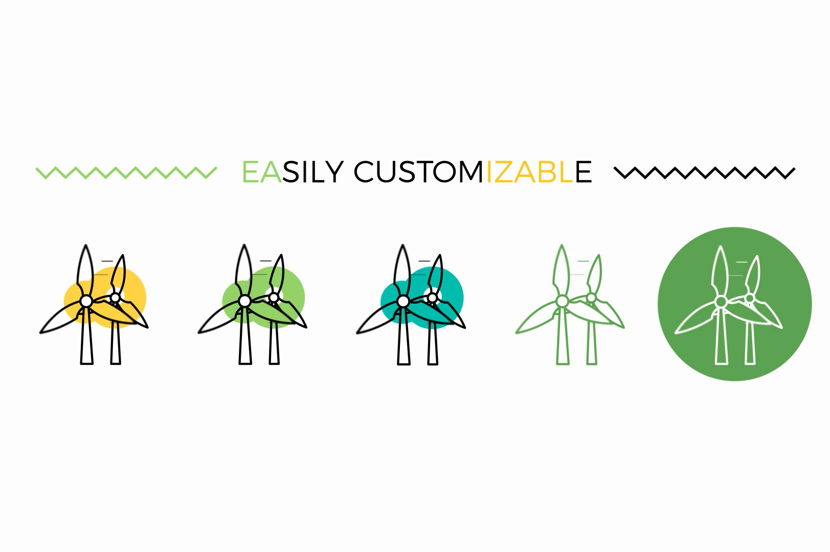 customizable animated ecology icons for after effects