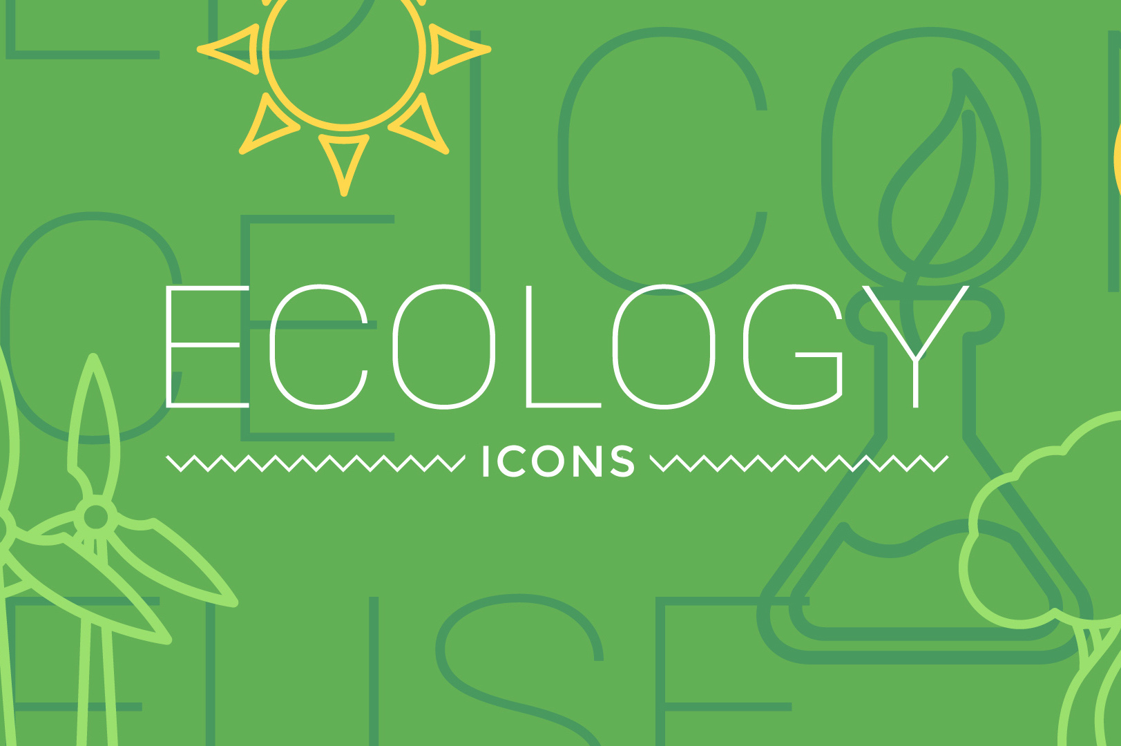 Ecology Concept Icons After Effects Template