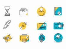minimal business icons for after effects