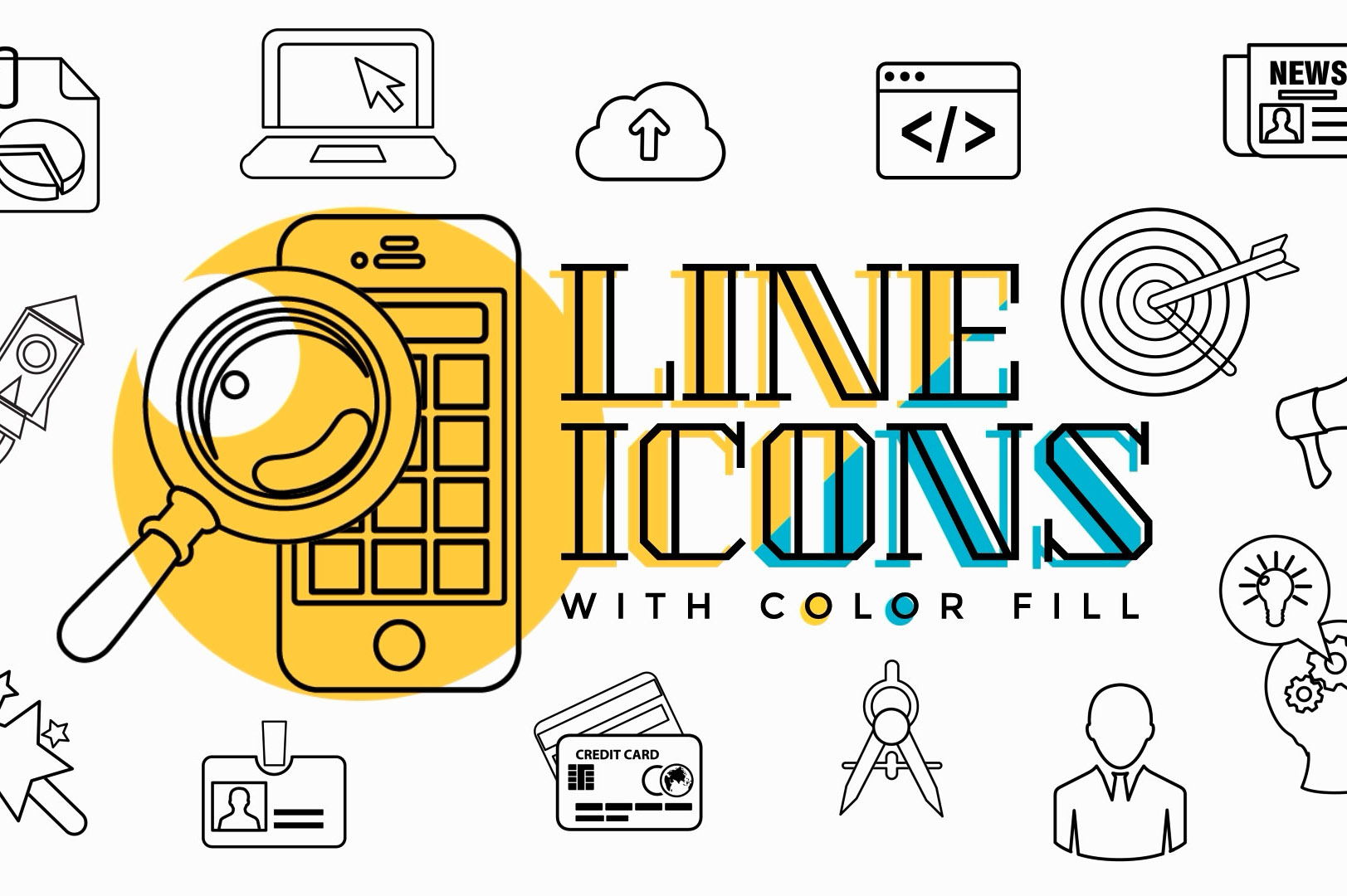Business Startup Line Icons After Effects Template