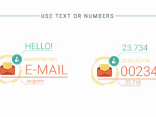 text or numbers after effects template for business