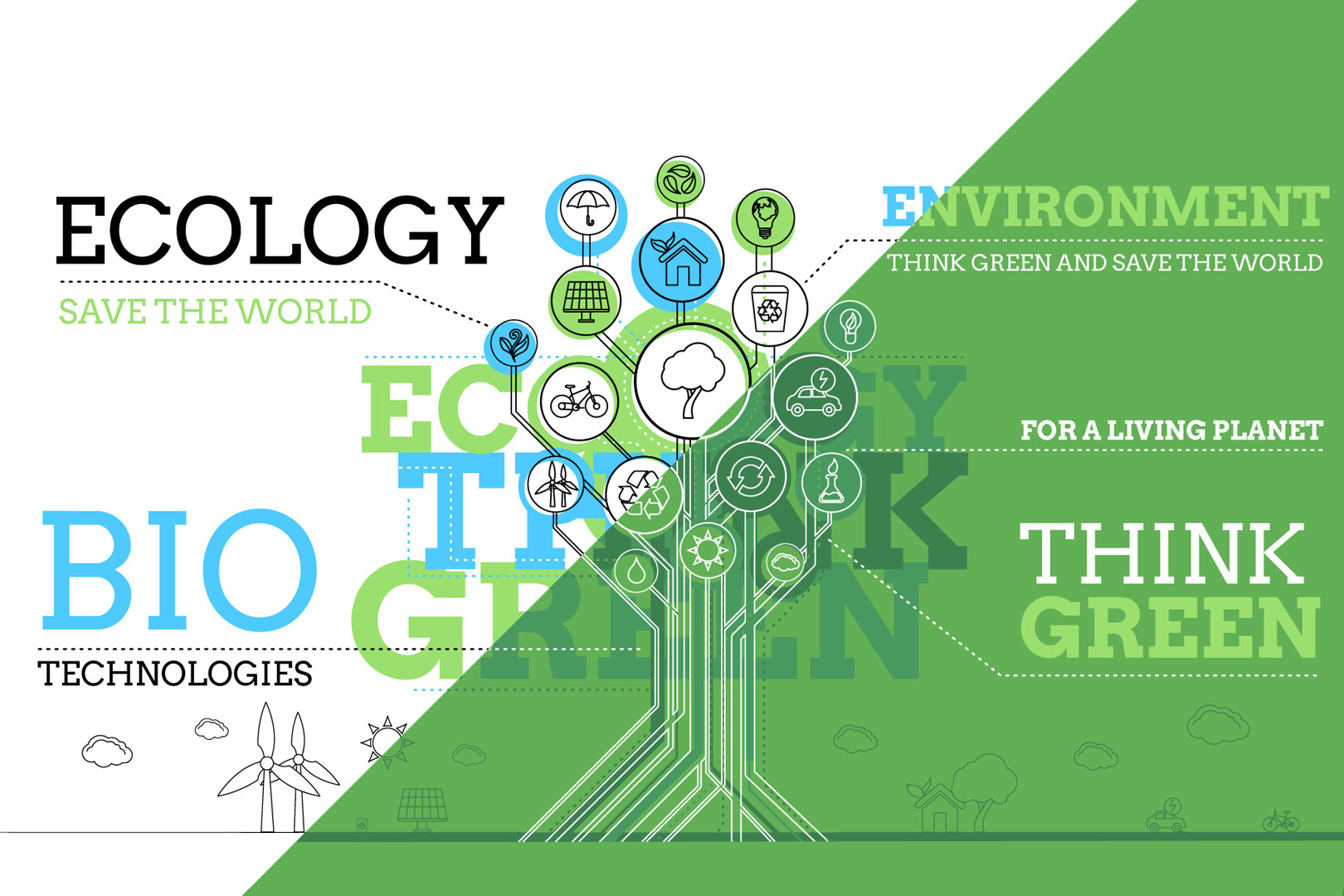 Ecology Infographics After Effects Template