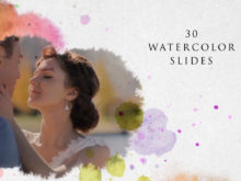 watercolor slideshow template for after effects