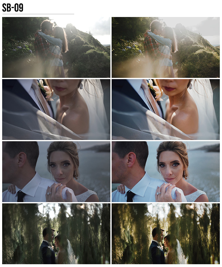 9 Vanessa & Ivo's Wedding LUTs - SB Pack - FilterGrade