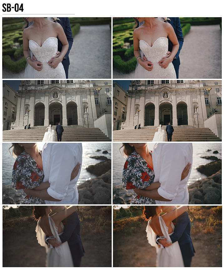 4 Vanessa & Ivo's Wedding LUTs - SB Pack - FilterGrade
