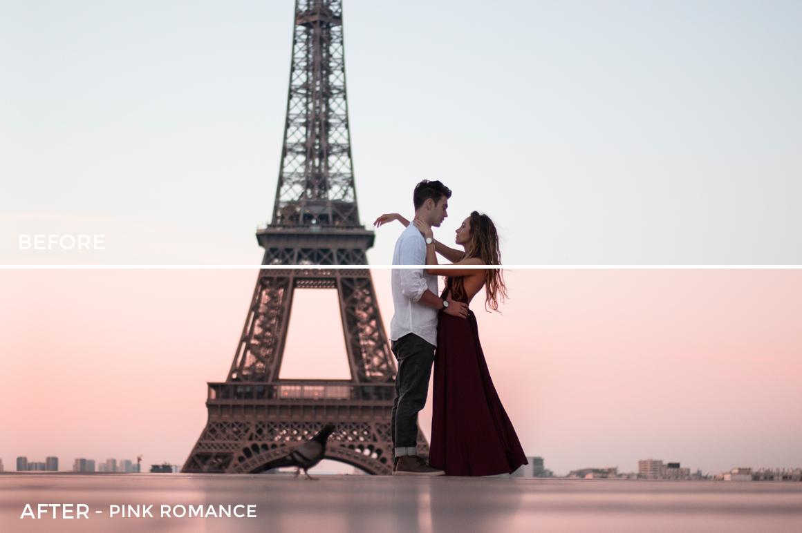 5 Pink Romance - Kim Rose Lightroom Presets - FilterGrade