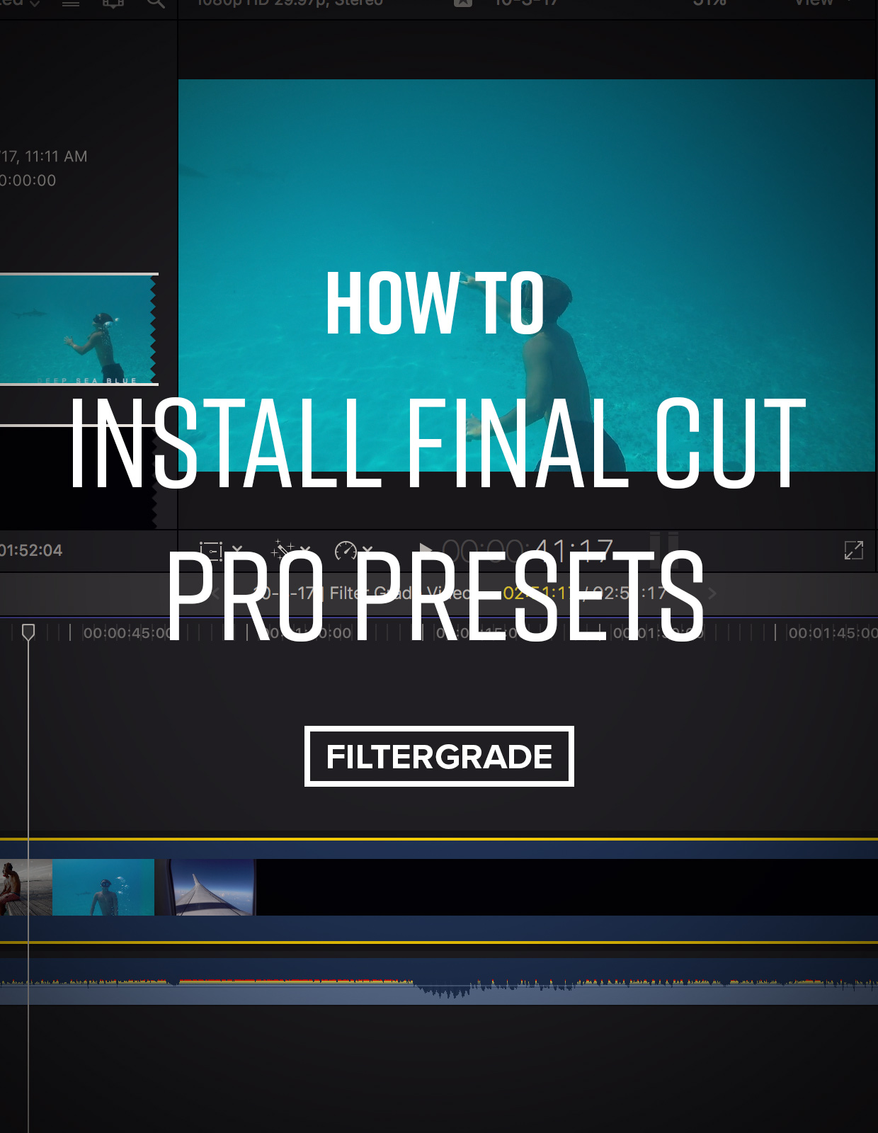 How to Install Final Cut Pro Presets