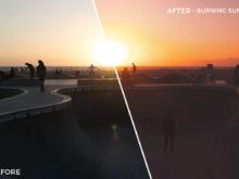 Burning Sunset - Stephanie Saias Lightroom Presets - FilterGrade