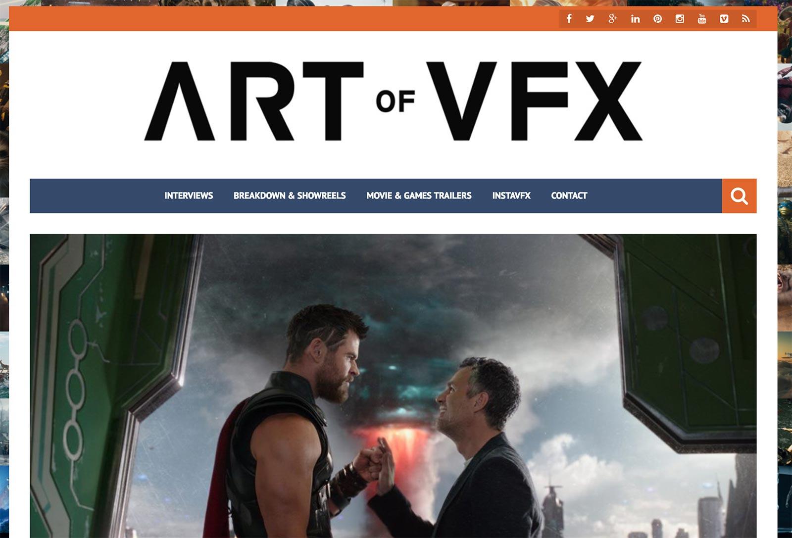 Art of VFX blog