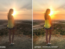 Tropical Sunset - Chiara Marie Lightroom Presets - Chiara Steck - FilterGrade