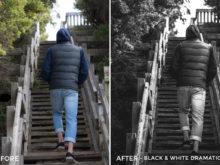 Black&WHite Dramatic - Tom Noske Lightroom Presets - FilterGrade