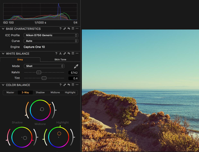 edit travel photos color balance adjustments