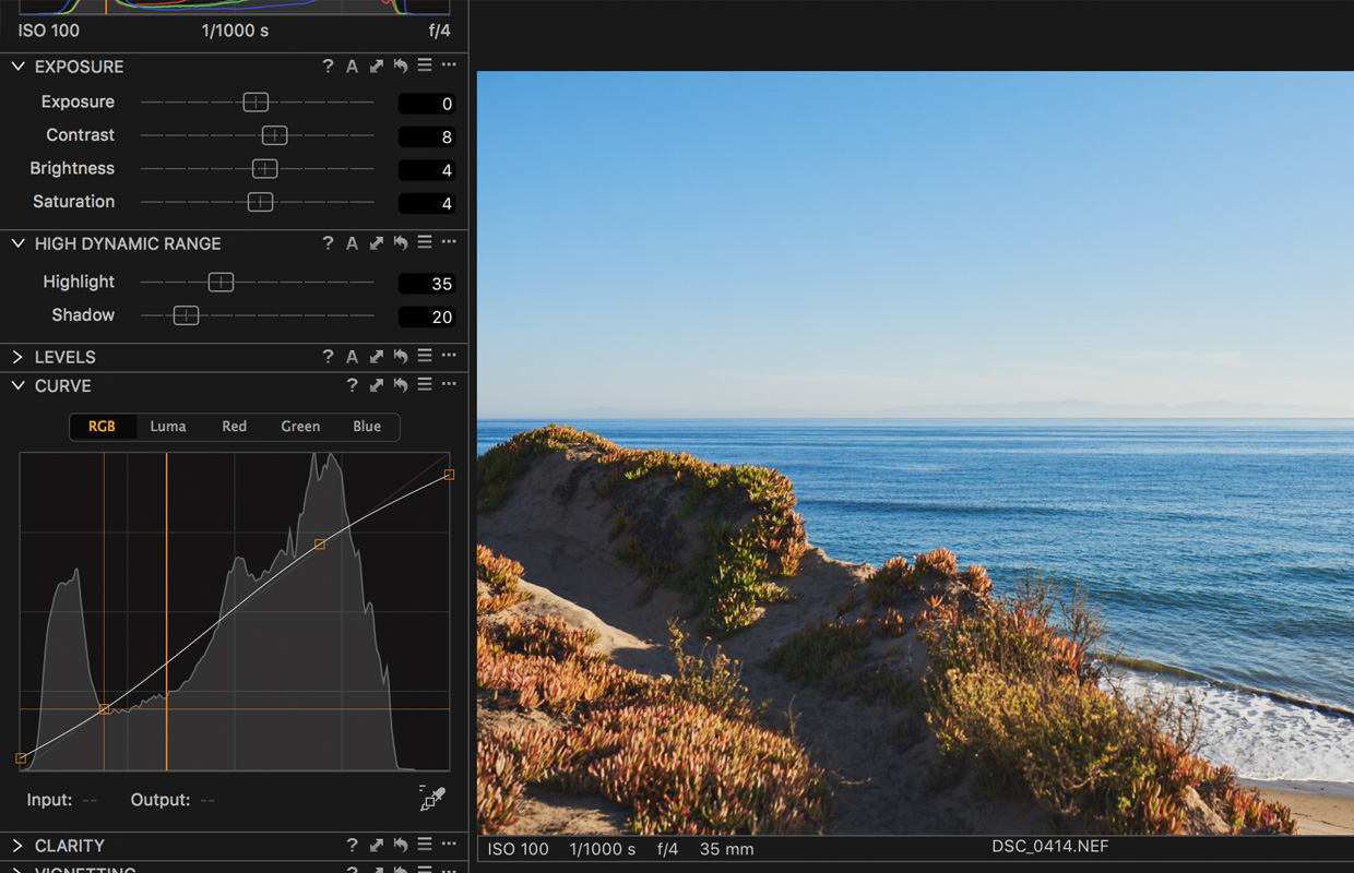 curve tool capture one pro