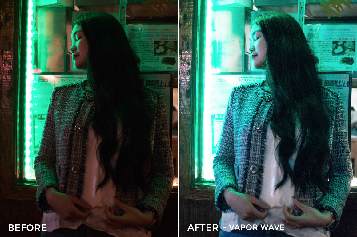 Vapor Wave - Tiffany Chen Nighttime Lightroom Preset - FilterGrade