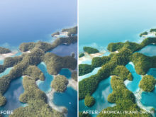 Tropical Island Drone - Jackson Groves Lightroom Presets - FilterGrade