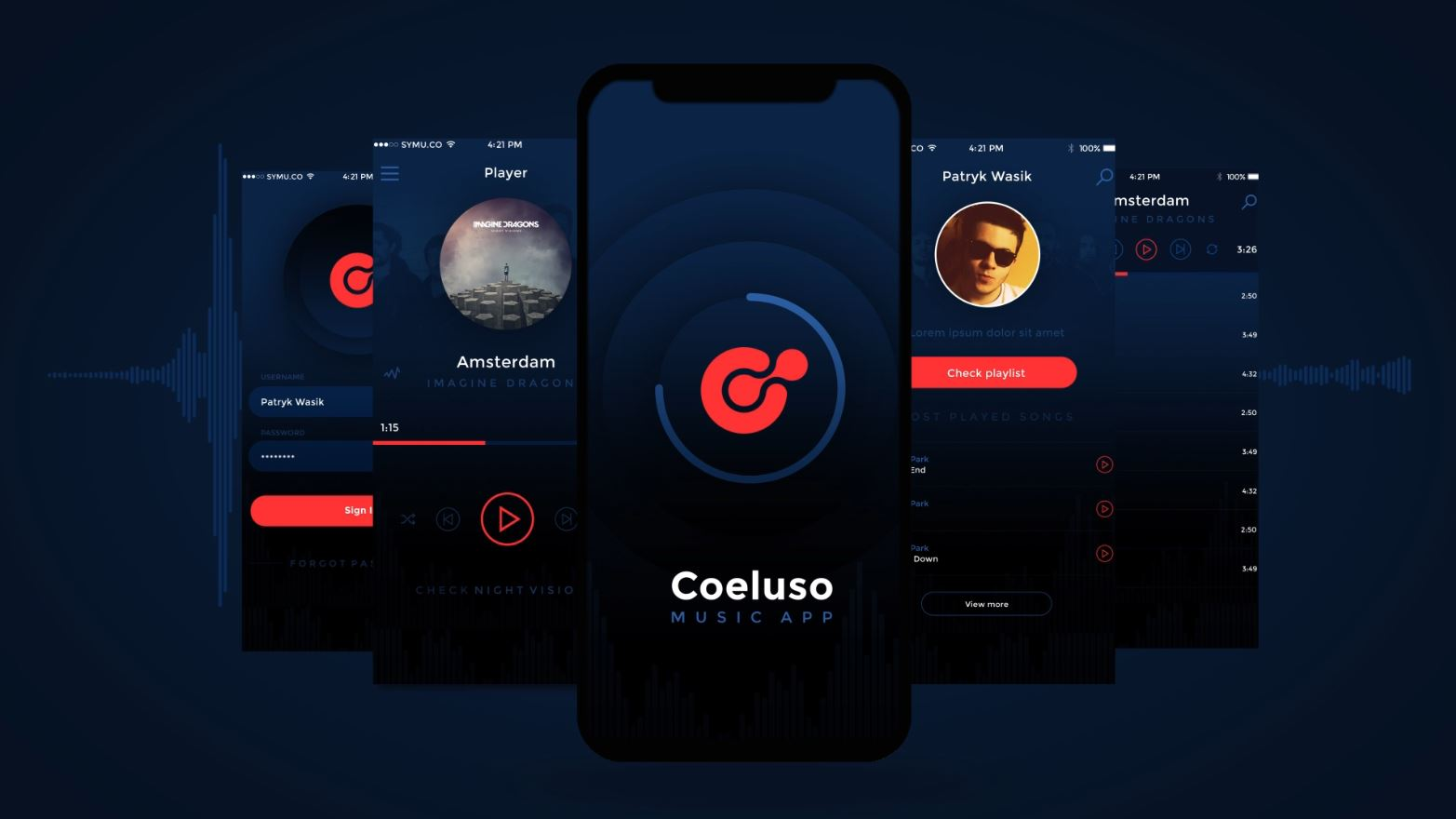 ae template for music app designers