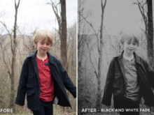 black and white fade - Will Milne Lightroom Presets - FilterGrade
