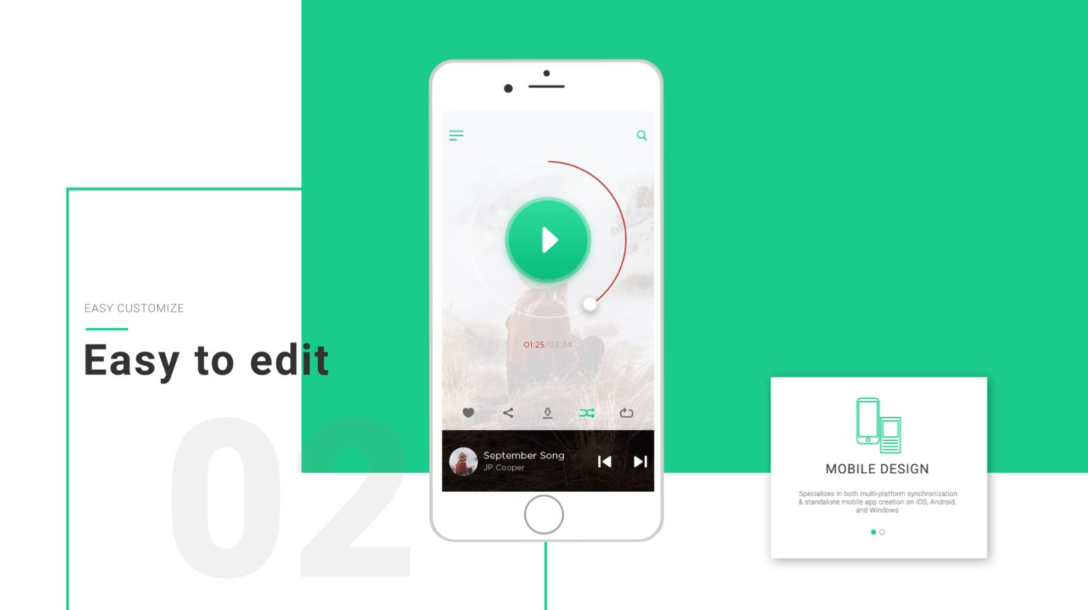 design and ui presentation video template for after effects