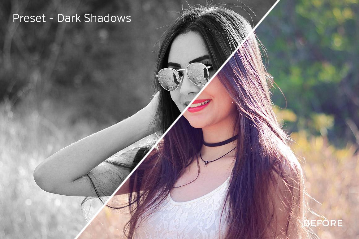 Dark Shadows - Exposure Empire B&W Lightroom Presets - FilterGrade
