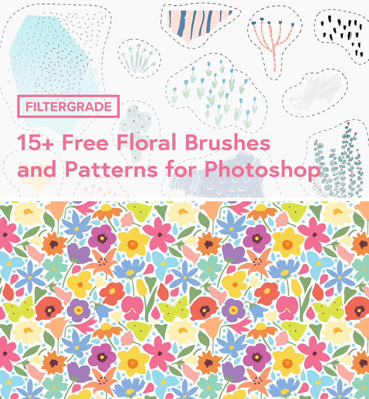 Floral designs and free floral brushes/patterns for Photoshop.