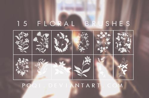 floral brushes bundle
