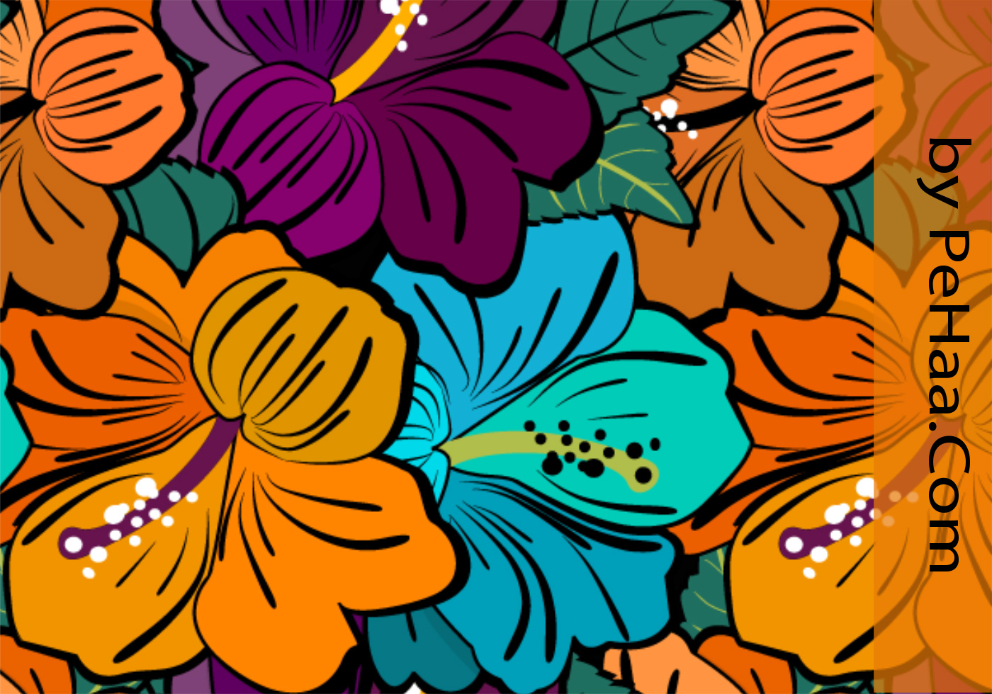 very flowery free floral pattern