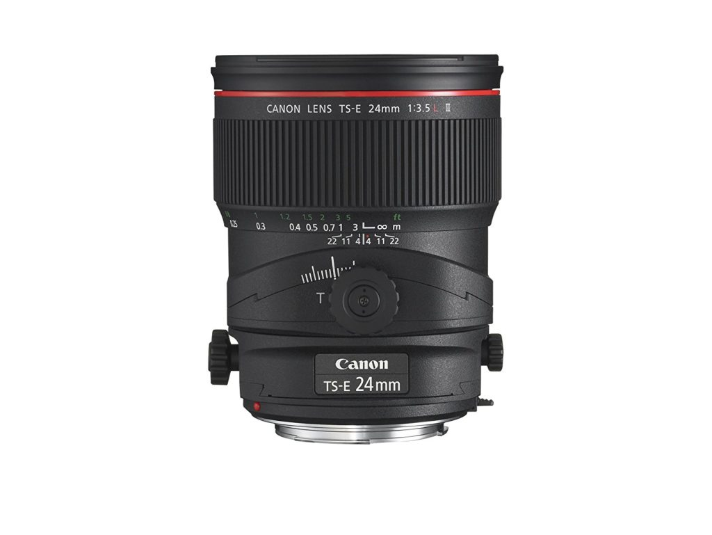 Canon TS-E 24mm f/3.5L II tilt shift lens for real estate