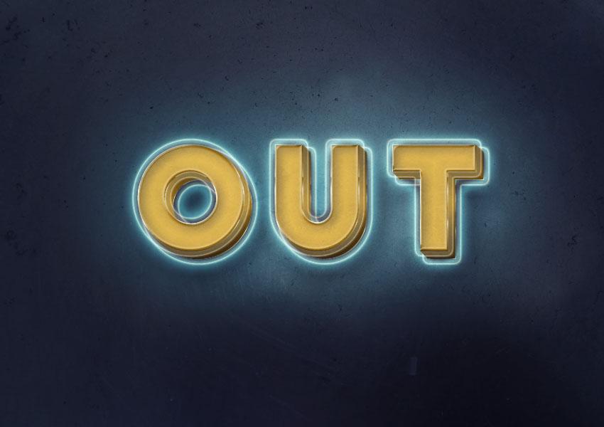 photoshop-text-effect-tutorials-glowing-retro