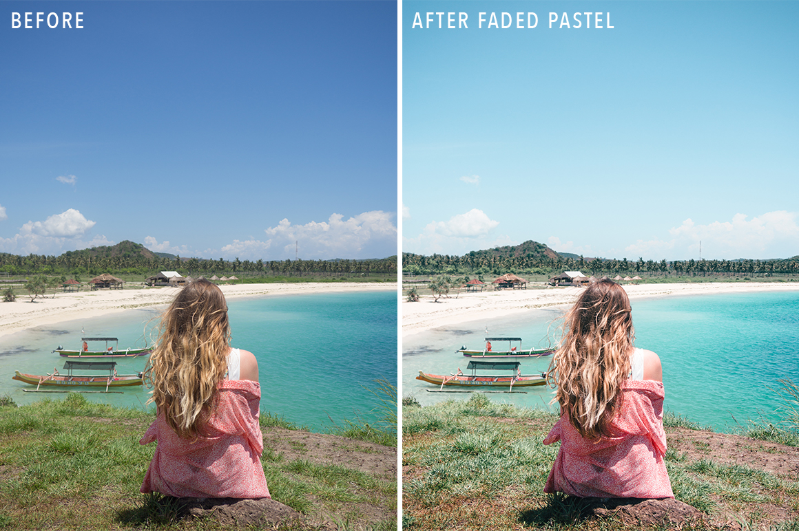 Faded Pastel - Sunshine Seeker Island Light Lightroom Presets - FilterGrade