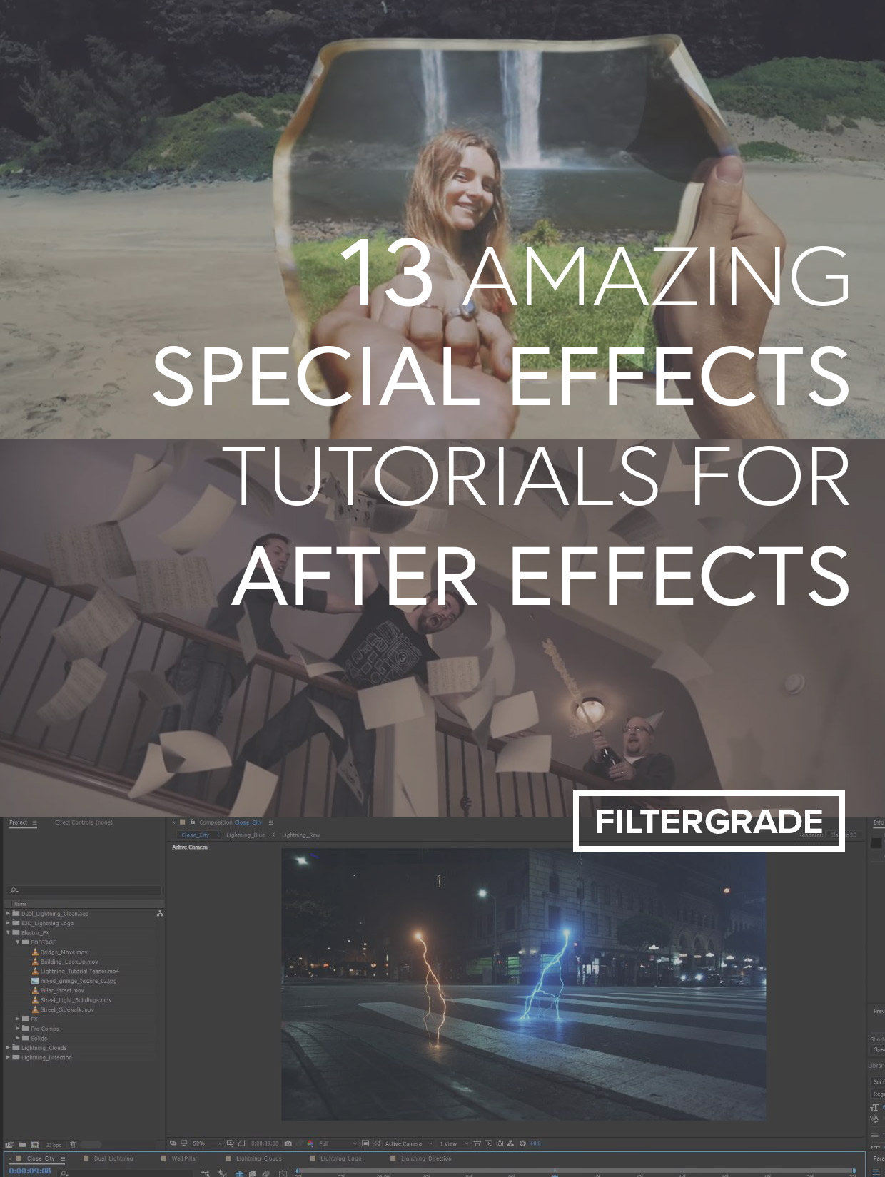 Learn how to add interesting special effects and visuals to your videos in After Effects with these advanced tutorials.