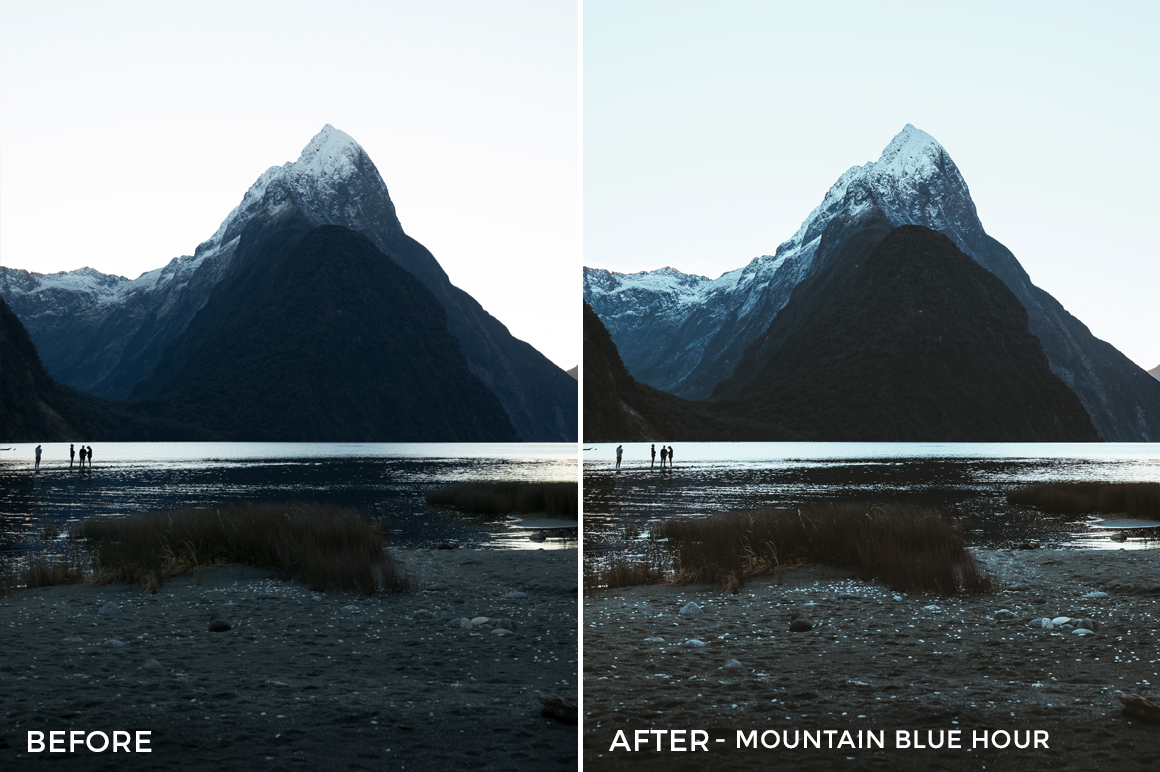 Mountain Blue Hour (NEW) - Kirk Richards Lightrooom Presets Vol. 2 - FilterGrade